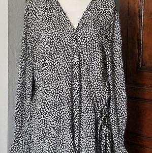 Talbots faux wrap blouse